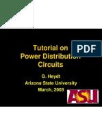 Tutorial on Power Distribution