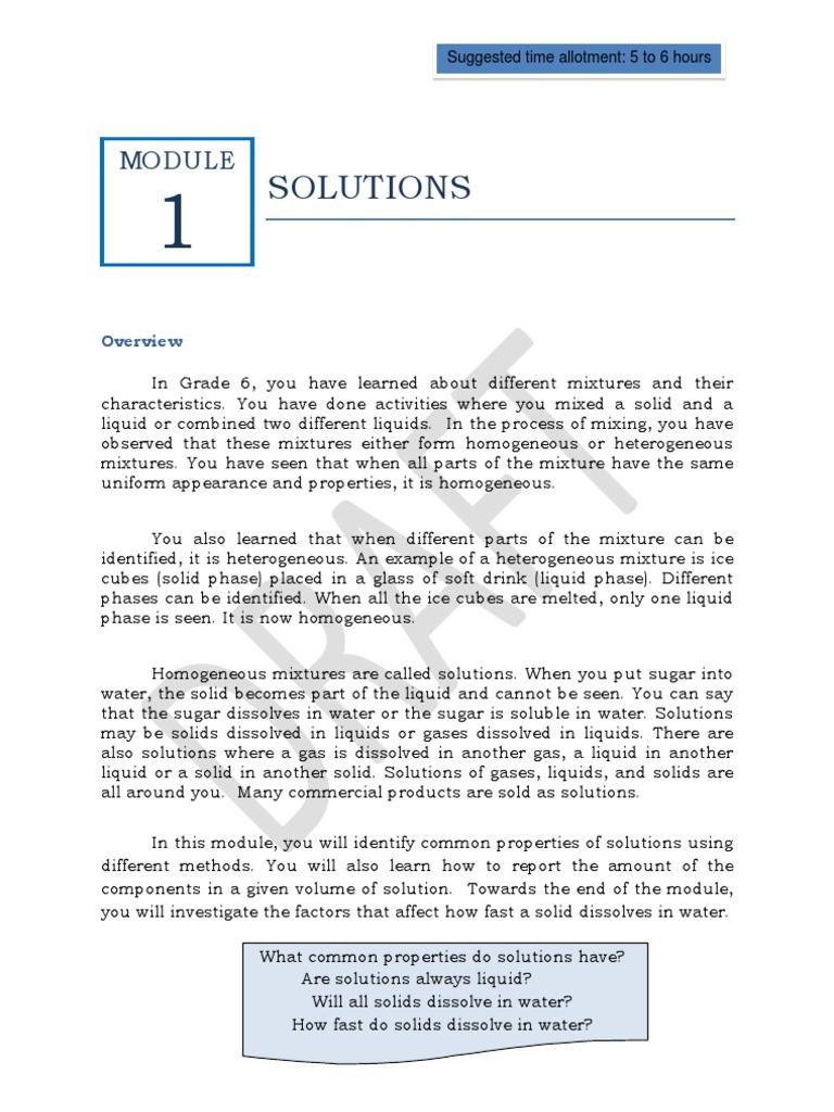 Worksheet Mixtures And Solutions Worksheets Carlos Lomas Worksheet