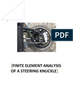 C. Kalavrytinos - FEA of a Steering Knuckle