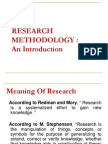 RESEARCH METHODOLOGY :