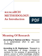 RESEARCH METHODOLOGY :