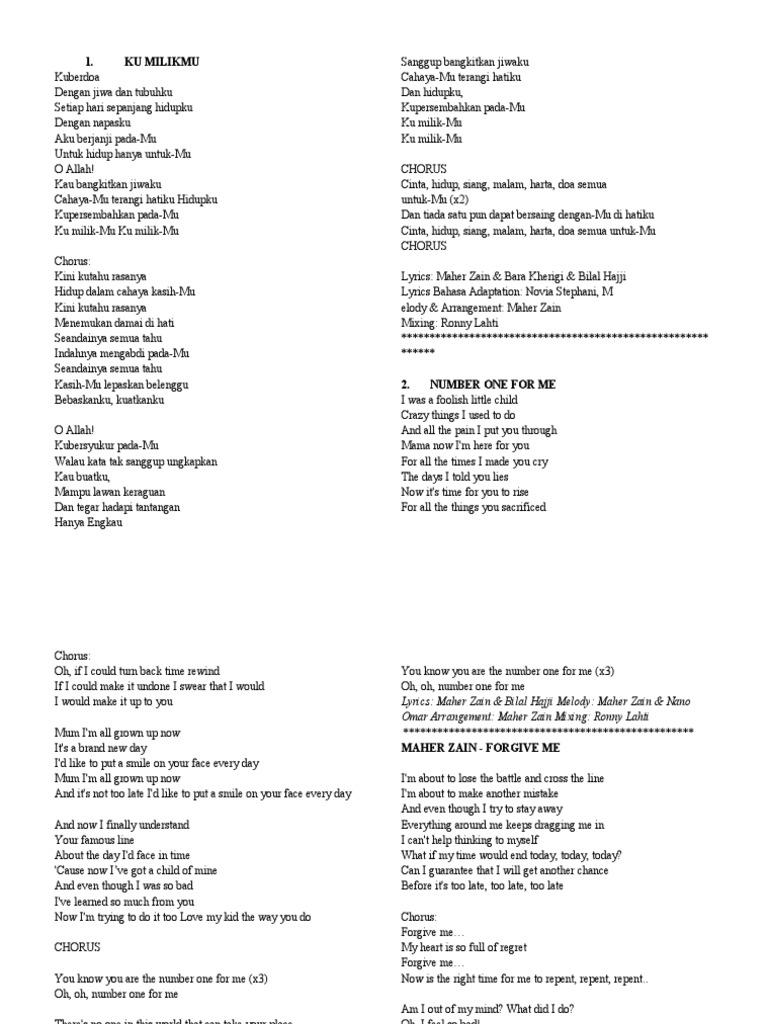 Forgive Me Lyrics Maher Zain | Muhammad | Prophets And