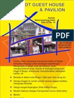 Guest House dan Pavilion Disewakan Harian cocok untuk penginapan sekeluarga di Bogor