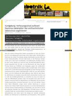Verfassungsschutz auflösen - Rassismus bekämpfen - sabotnik_blogsport_de_2011_11