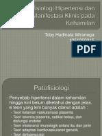 Patofisiologi Hipertensi Dan Manifestasi Klinis Pada Kehamilan