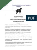 Convenção Europeia para a protecção dos animais de companhia