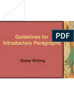GED Guidelines for Introductory Paragraphs