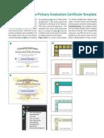 Primary Graduation Certificate Template
