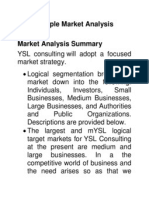 Sample Market Analysis