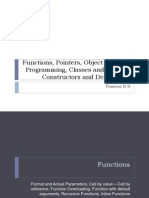 Functions, Pointers, OOPS, Classes