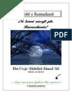 Ne kemi nevojë për Ramadanin
