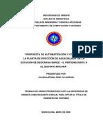 Tesis.AUTOMATIZACIÓN Y CONTROL PARA LA PLANTA DE INYECCIÓN DE AGUA SALADA