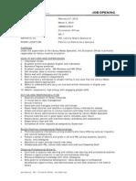 Job Opening PEL Circulation Officer 20120227
