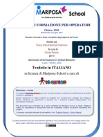 Mariposa School - Training Manual Italiano Iocresco V2.3 Doc