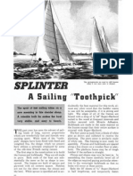 Plans for 20' Splinter Sailboat