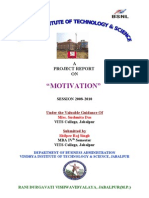 Project Report on MOTIVATION