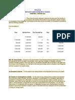 Title III Estate Tax