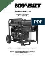 Troy-Bilt Generator 030247 Part ListEw