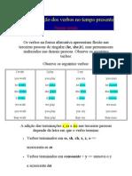 Conjugação dos verbos no tempo presente