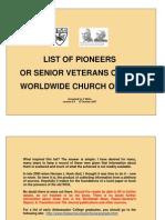 Pioneers of WCG