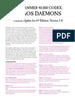 Chaos Daemons 6th Ed V1