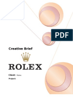 Creative Brief - Rolex (Copy Writing, TYBMM)