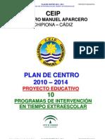 10.- Programas de Intervencion en Tiempo Extraescolar