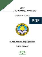 Plan Anual Del Centro 2006-07