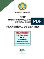 Plan Anual Del Centro 2009 -10
