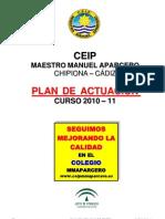 Plan de Actuacion Del Centro 2010-11