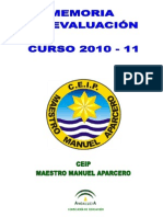 Memoria Curso 2010 - 11