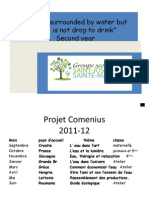 French Task Comenius second year