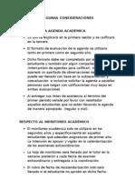 Evaluación de la agenda académica