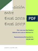 Cambiar de EXCEL 2003 a EXCEL 2007