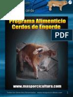 Programa Alimenticio para cerdos