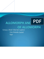 Allomorph and Types of Allomorph