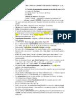 Liste Des Erreurs a Ne Pas Commettre Dans Un Delf b1 Et b2