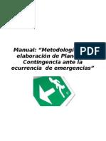 Manual Metodología Plan de emergencias