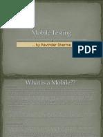 Mobile Testing Theory-Ravinder