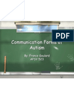 communication forms of autism
