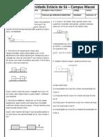 Lista de Exercícios de Física I dinamica