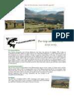 Pre-Trip Info 2012-2013 English