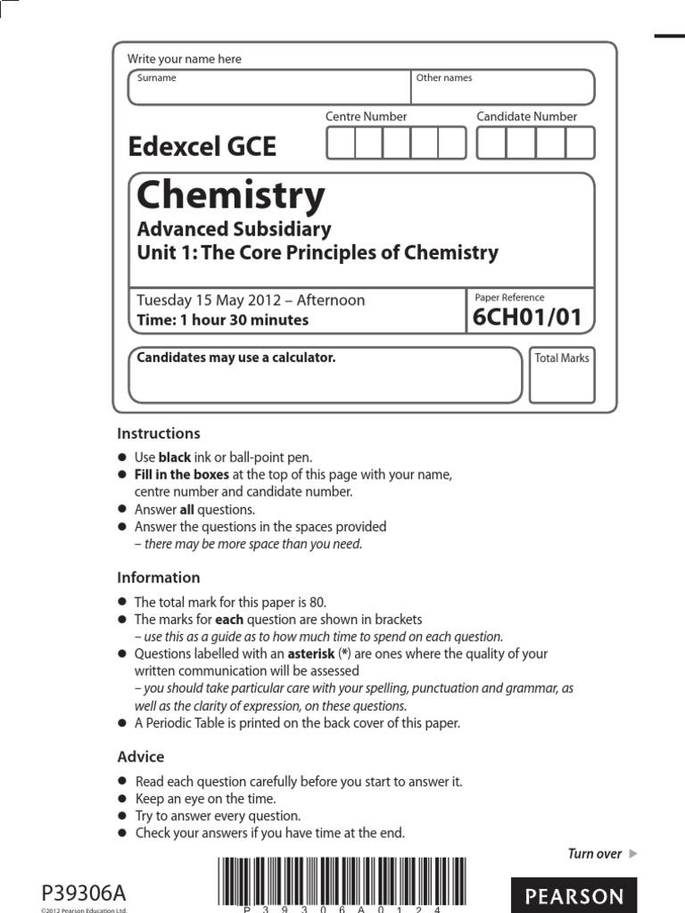 Chemistry: t t t t t t t t t t t t