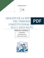 Analisis de La Sentencia Del Tribunal Constitucional Exp
