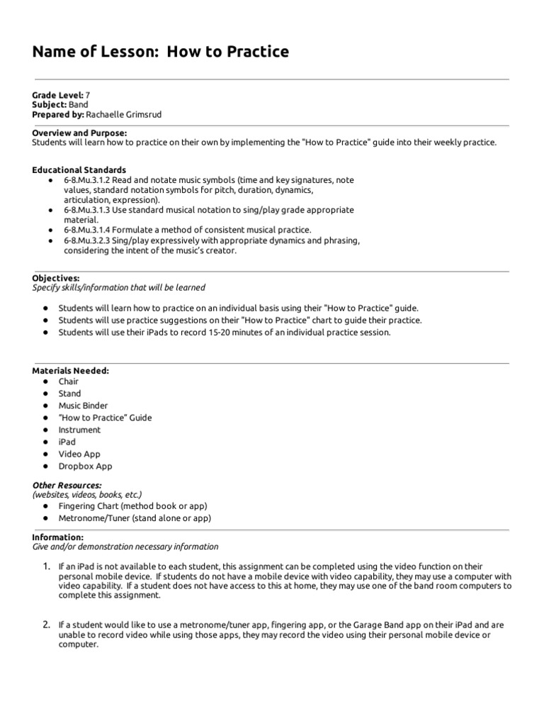 How to practice lesson plan pop culture lesson plan biocorpaavc Image collections