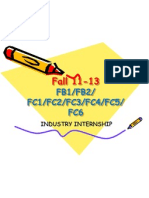 FB1 to FC6 Industry Internship Presentation
