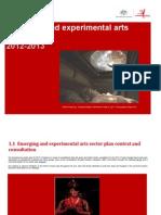 Experimental Arts Sector Plan 2012-13
