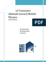 Study of Consumer Attitude Toward Mobile Phones