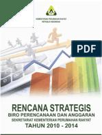 Rencana Strategis Biro Perencanaan dan Anggaran Kementerian Perumahan Rakyat Tahun 2010-2014