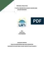 Proposal Penelitian Chairunisa (109102000018)